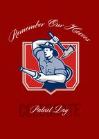 Fireman Remember Our Heroes Poster