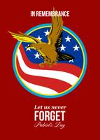 In Remembrance Patriots Day Retro Poster