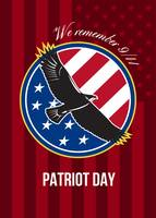 We Remember 911 Patriot Day Retro Poster