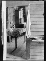 Washstand in the dog run and kitchen of Floyd Burr