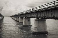 Seven Mile Bridge Florida Keys Black and White