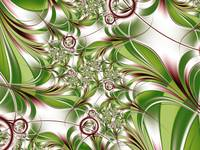 Abstract Green Plant