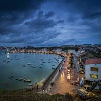 Nighfall in Mugardos Galicia Spain