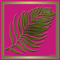 Pink Green Palm Leaf