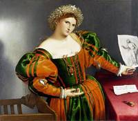 Lorenzo Lotto - Portrait of a Woman inspired by Lu