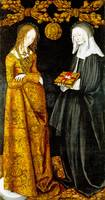 Lucas Cranach the Elder - Saints Christina and Ott