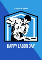 Happy Labor Day Fellow Workforce Retro Poster