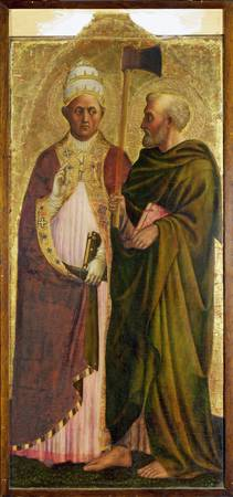 Masolino - A Pope (Saint Gregory) and Saint Matthi