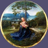 Netherlandish - The Virgin and Child in a Landscap