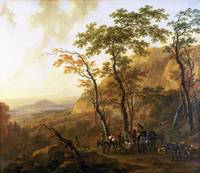 Nicolaes Berchem - Mountainous Landscape with Mule