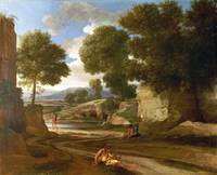Nicolas Poussin - Landscape with Travellers Restin