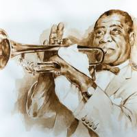 """Louis Armstrong"" by Lauriduc"