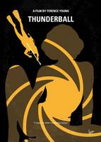 No277-007 My Thunderball minimal movie poster