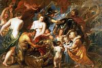 Peter Paul Rubens - Minerva protects Pax from Mars