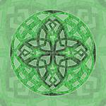 Celtic Clover Mandala by Kristen Fox