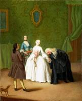 Pietro Longhi - A Nobleman kissing a Lady's Hand