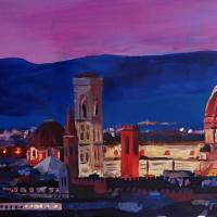 """""""Florence Skyline Italy With Santa Maria Del Fiore"""" by arthop77"""