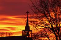 Church Steeple In The Sunrise
