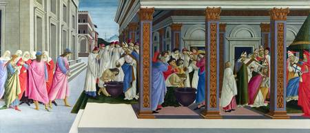 Sandro Botticelli - Four Scenes from the Early Lif
