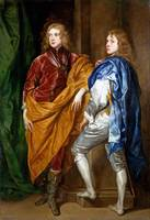 Style of Anthony van Dyck - Portraits of Two Young