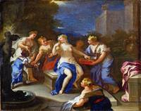 Style of Luca Giordano - The Toilet of Bathsheba
