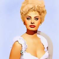 Sophia Loren in Heller in Pink Tights Art Prints & Posters by Art Cinema Gallery