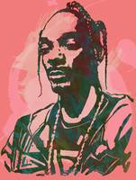 Snoop Dogg - Stylised Etching Pop Art Poster