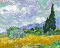 Vincent van Gogh - A Wheatfield, with Cypresses
