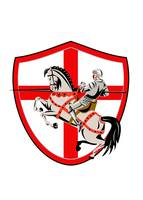 English Knight Rider Horse England Flag Retro