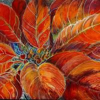 POINSETTIA BATIK  by Marcia Baldwin