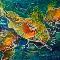 BATIK-KOI PLAY by Marcia Baldwin