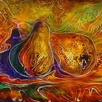 BATIK PEARS by Marcia Baldwin