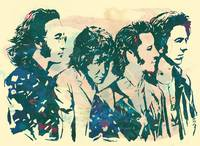 The Beatles - Stylised Etching Pop Art Poster