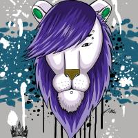 Hipster Lion III Art Prints & Posters by Roger McMorrin