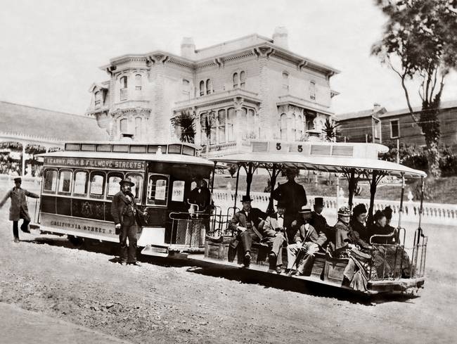 California Street Cable Railroad, 1882