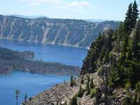 Crater Lake Natural Wonder Oregon Blue Lake Landsc