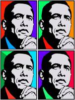BARACK OBAMA-44 COLOURFUL