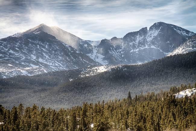 Longs Peak Winter View