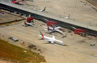 Mumbai Airport New Gates w/ Emirates B-772, A6-EMJ