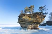 Tunrip Rock in Winter
