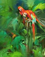 Parrots in Jungle_