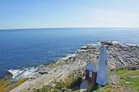 Bell Tower from Pemaquid Lighthouse Window by Tony Kerst