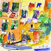 """Windows in Portofino Italy"" by GinetteCallaway"