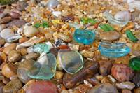 Seaglass Blue Sea Glass Coastal Beach Agates