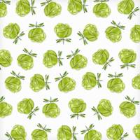 Green Roses in Rows