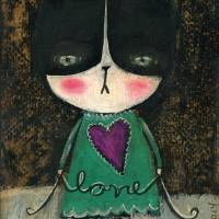 20130123 Love Kitty (15 Wide) Art Prints & Posters by Danita Art
