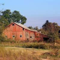 Old Red Barn by Karen Adams