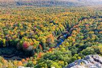 Porcupine Mountains Carp River Valley in Autumn