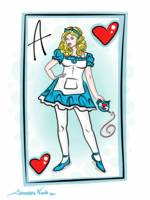 2-24-14 Alice Of Wonderland Card Finished