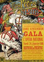 Reproduction of a poster advertising the Fetes de